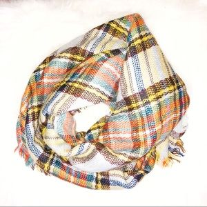 Plaid flannel infinity scarf. Perfect for Fall!